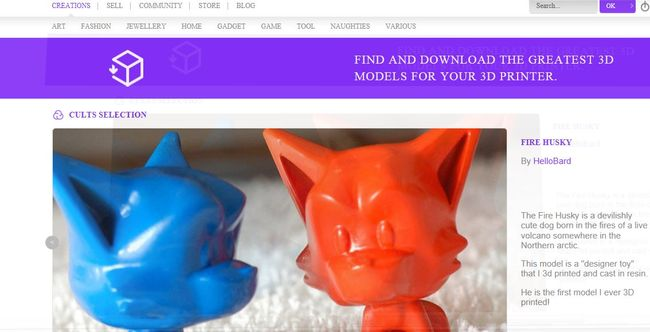 Place de marché francaise des objets print3D